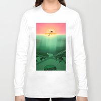 jaws Long Sleeve T-shirts featuring JAWS by hyasinths