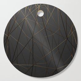 Golden Wireframe Triangles Cutting Board