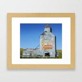Sapphire Flour, Elevator, Suffolk Montana Framed Art Print
