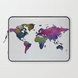 Multicolor World Map 02 Laptop Sleeve