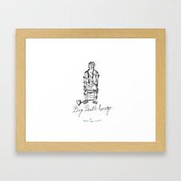 BIG DEATH AMEGO Framed Art Print