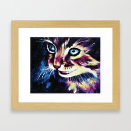 Cheshire Cat in a Good Mood Framed Art Print