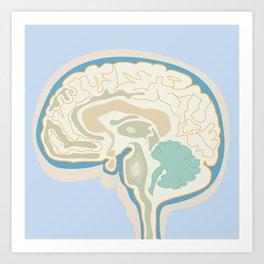 Map of Brain Art Print