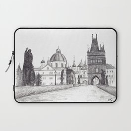 Charles Bridge in Prague, Czech Republic Laptop Sleeve