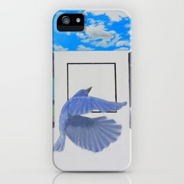 A Brief Encounter With a Blue Bird iPhone Case