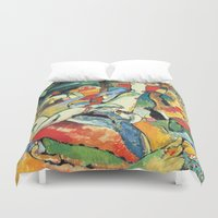 """kandinsky Duvet Covers featuring Vasily Kandinsky Sketch for """"Composition II"""" by Artlala for MSF Doctors Without Borders"""