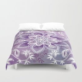 Happiness Purple Duvet Cover