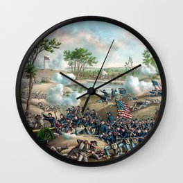 Battle of Cold Harbor -- Civil War Wall Clock