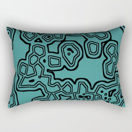 Funky Cellular Party Rectangular Pillow