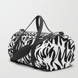 White and black fusion Duffle Bag
