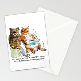 The owl and the pussycat Stationery Cards