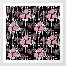 Abstract floral pattern. Art Print