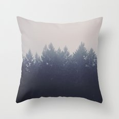 Forest in the Haze Throw Pillow
