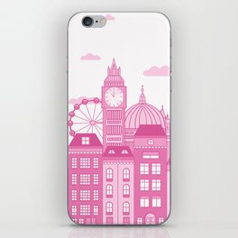 London Skyline Pink iPhone Skin