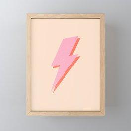 Thunderbolt: The Peach Edition Framed Mini Art Print