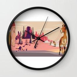 American Native Landscape No. 1 Wall Clock