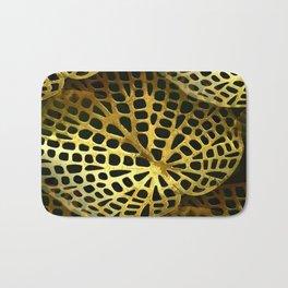 Gold Filigree Leaf Bath Mat