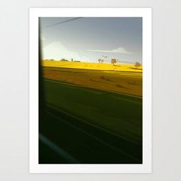 Trainblur4 Art Print