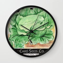 Cabbage Seed Packet Wall Clock