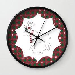 Mooseltoe Wall Clock