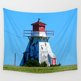 Lighthouse in Disrepair Wall Tapestry