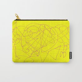 Doodle yellow Carry-All Pouch