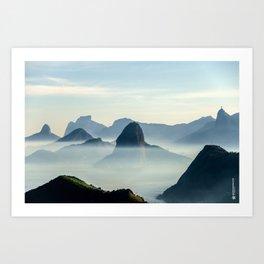 Rio Skyline Art Print