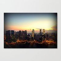 singapore Canvas Prints featuring Singapore by Michael S.