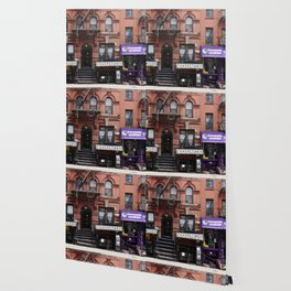 Stores and business in MacDougal Street, NYC Wallpaper