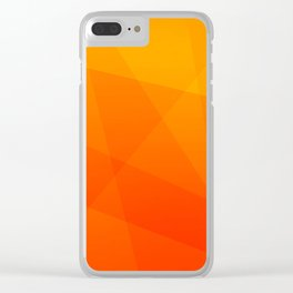 Orange Sunset Clear iPhone Case