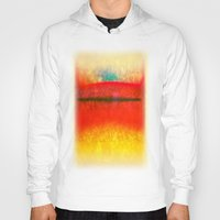 rothko Hoodies featuring After Rothko 8 by Gary Grayson