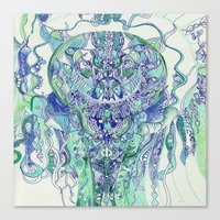 "hydra Canvas Prints featuring ""hydra"" by Rachna Radar"