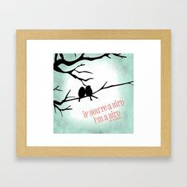 Tree and Love Birds Framed Art Print