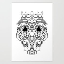 Rococo Owl Art Print