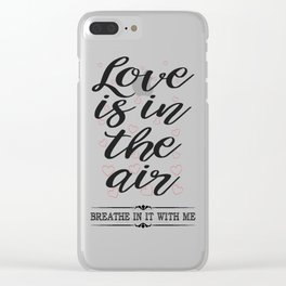 All about Love and Lovers Typography Clear iPhone Case