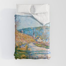 Claude Monet - The Road to Vetheuil - Digital Remastered Edition Comforters