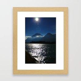 Alps at the Inn Framed Art Print