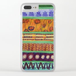 Bordered Catchy Creative Stripes Clear iPhone Case