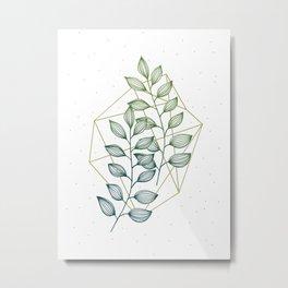Geometry and Nature III Metal Print