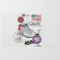 chuck Area & Throw Rugs featuring The Chuck Taylor by Frances Beale