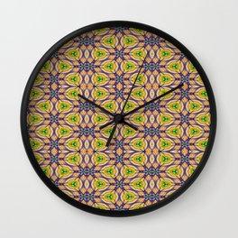 Mardi Gras Kaleidoscope 4506 Wall Clock