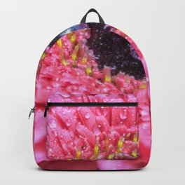 pink daisy with water droplets Backpack