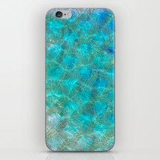 Sea Ocean Waves effect- Gold and Aqua Scales Pattern iPhone & iPod Skin