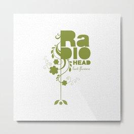 """Radiohead """"Last flowers"""" Song / Green version Metal Print"""