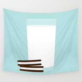 #25 Milk and Cookies Wall Tapestry