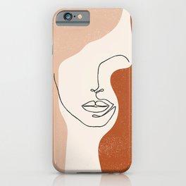 Line Facial Features iPhone Case