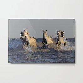 Horses of the Sea - Wild Horses Metal Print