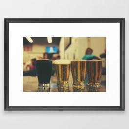 Beer Flight #2 Framed Art Print