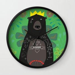 King Bear Wall Clock