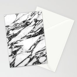 Modern Black and White Marble Stone Stationery Cards